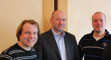 (v.l.n.r.) Martin Mertens, SPD-Fraktionsvorsitzender Rommerskirchen und Kreistagsabgeordneter, Rainer Thiel, Vorsitzender der SPD Kreistagsfraktion und Klaus Krützen, Vorsitzender der SPD Rhein-Kreis Neuss
