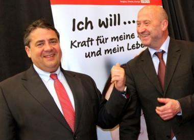 Sigmar Gabriel und Rainer Thiel