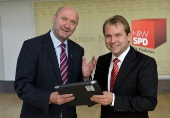 Rainer Thiel MdL und Bürgermeisterkandidat Martin Mertens