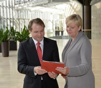 Martin Mertens und Hannelore Kraft