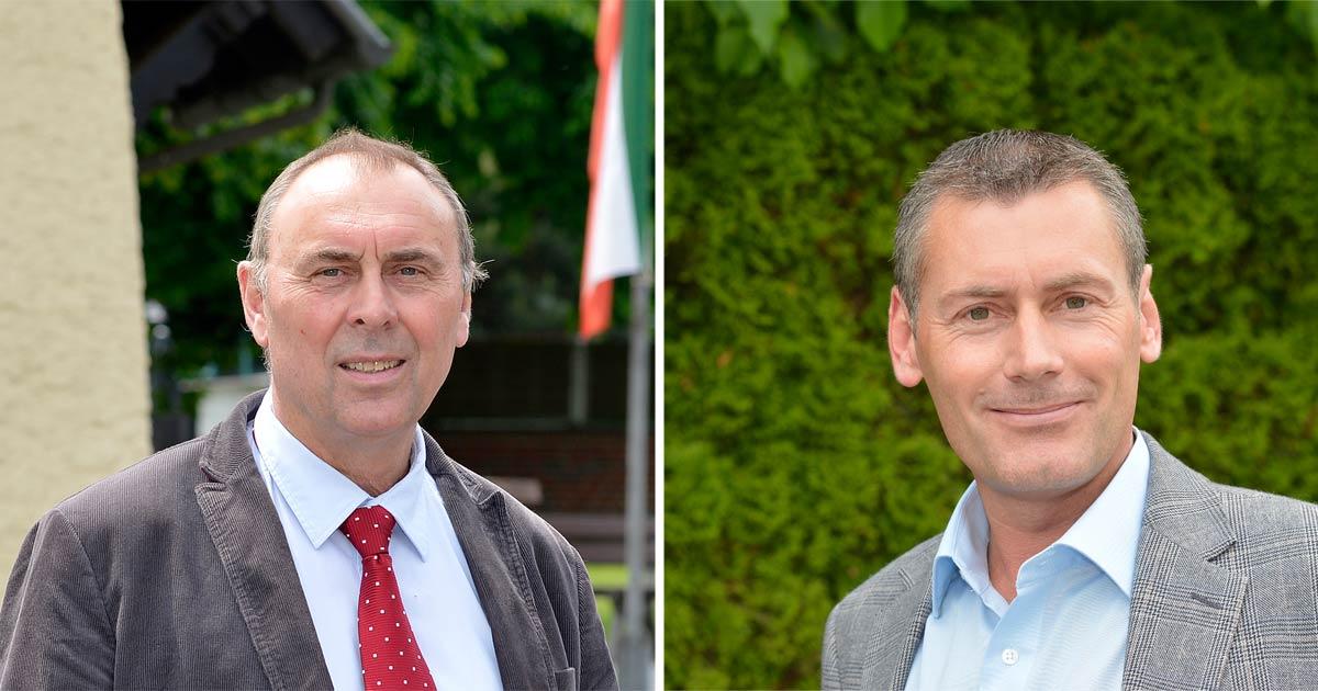 SPD-Vorsitzender Johannes Strauch und SPD-Fraktionsvorsitzender Ralf Steinbach